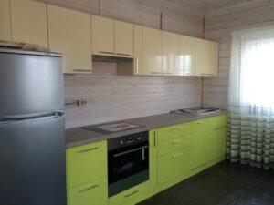 """Кухня в цветах """"Ваниль"""" и """"Лайм"""""""